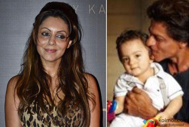 Gauri Khan, AbRam and Shah Rukh Khan