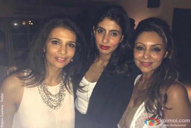 Celebs during the Gauri Khan's Birthday Bash
