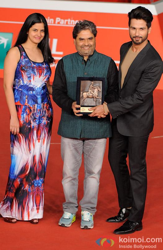 Vishal Bhardwaj and Shahid Kapoor At Rome Film Festival