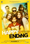 Saif Ali Khan, Ileana D'Cruz, Govinda, Ranvir Shorey and Kalki Koechlin starrer Happy Ending Movie Poster 2