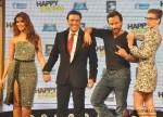 Ileana D'Cruz, Govinda, Saif Ali Khan and Kalki Koechlin during the music launch of movie 'Happy Ending'