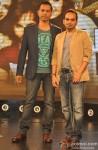 Raj Nidikoru and Krishna D. K. during the music launch of movie 'Happy Ending'