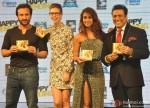 Saif Ali Khan, Kalki Koechlin, Ileana D'Cruz and Govinda during the music launch of movie 'Happy Ending'