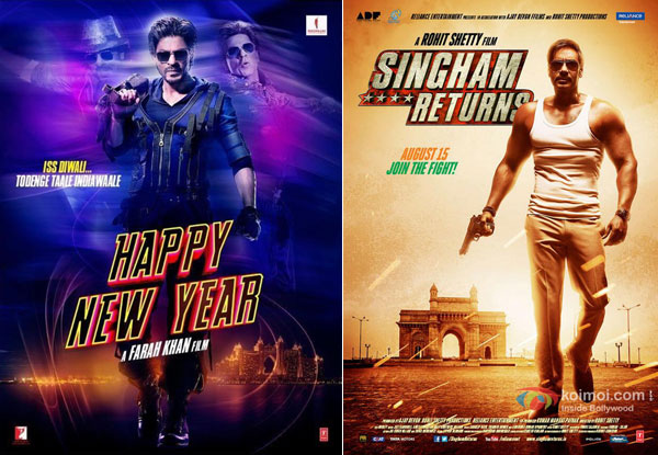 Happy New Year and Singham Returns' Posters
