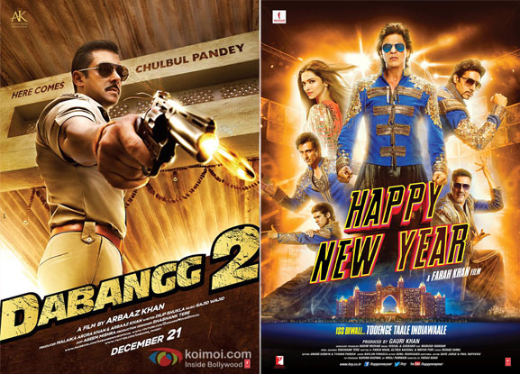 'Dabangg 2' and 'Happy New Year' Movie Posters