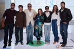 Vivaan Shah, Boman Irani, Farah Khan, Shah Rukh Khan, Deepika Padukone and Abhishek Bachchan at Google and Twitter Headquarters
