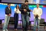 Shah Rukh Khan, Deepika Padukone, Abhishek Bachchan and Boman Irani at Google and Twitter Headquarters