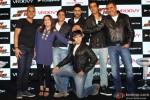 Farah Khan, Shah Rukh Khan, Abhishek Bachchan, Vivaan Shah, Sonu Sood and Boman Irani during the launch of Happy New Year Game