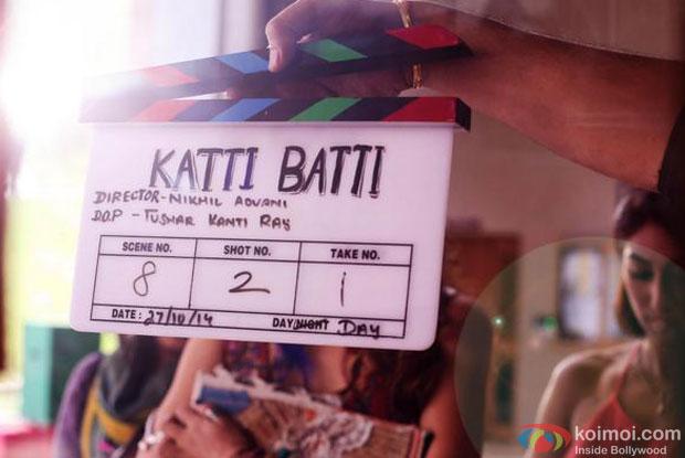 Still from the sets of movie 'Katti Batti'
