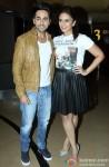 Ayshmann Khurrana and Huma Qureshi during the launch of new punjabi single 'Mitti Di Khushboo' Pic 1