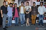Vinod Bhanushali, Gurpreet, Rochak Kolhi, Ayshmann Khurrana, Huma Qureshi, Bhushan Kumar and Amit Roy during the launch of new punjabi single 'Mitti Di Khushboo'