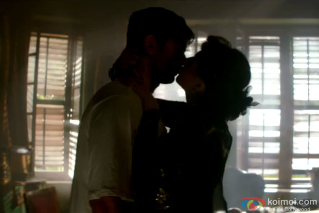 Sushant Singh ​Rajput and Swastika Mukherjee in a still from movie 'Detective Byomkesh Bakshi'