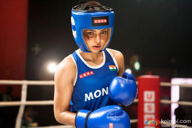 Priyanka Chopra in a still from movie 'Mary Kom'