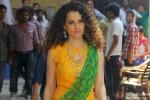 Kangana Ranaut during the on set shoot of movie 'Tanu Weds Manu 2'