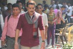 Jimmy Shergill during the on set shoot of movie 'Tanu Weds Manu 2'
