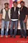 Arshad Warsi and Ajay Devgn during the Prakash Jha announces his upcoming films