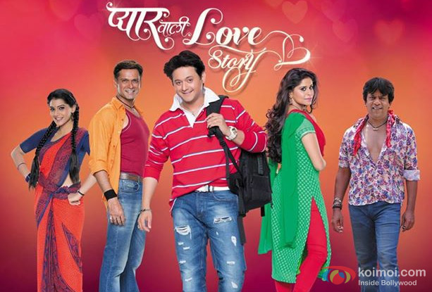 Urmila Kanitkar, Sameer Dharmadhikari, Swapnil Joshi, Sai Tamhankar and Upendra Limaye in a still from movie 'Pyaar Vali Love Story'