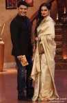Kapil Sharma and Rekha during the promotion of movie 'Super Naani' on the sets of Comedy Nights With Kapil Pic 1