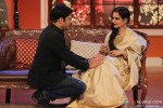 Kapil Sharma and Rekha during the promotion of movie 'Super Naani' on the sets of Comedy Nights With Kapil Pic 2