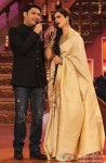 Kapil Sharma and Rekha during the promotion of movie 'Super Naani' on the sets of Comedy Nights With Kapil Pic 3