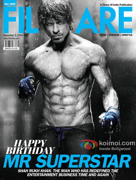 Shah Rukh Khan on Filmfare Cover