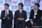 Shah Rukh Khan, Sonu Sood and Abhishek Bachchan during the launch of new show 'Dil Se Naachein'