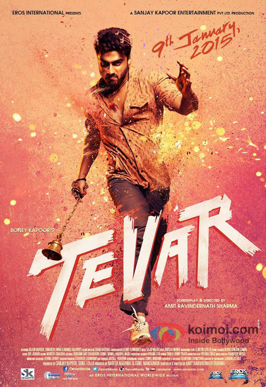 Arjun Kapoor, Sonakshi Sinha and Manoj Bajpai starrer Tevar Movie Poster 1