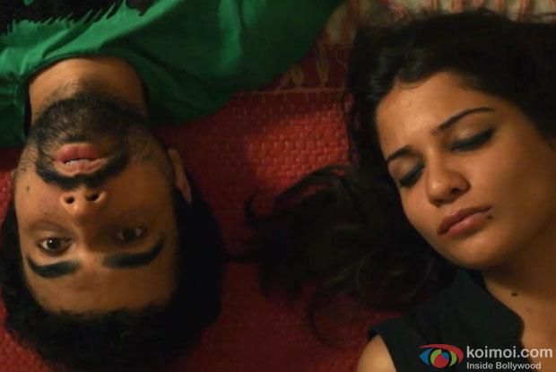Naveen Kasturia and Aditi Vasudev in a still from movie 'Sulemani Keeda'