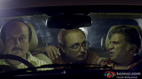 Anupam Kher, Piyush Mishra and Annu Kapoor in a still from movie 'The Shaukeens'