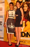 Ileana D'cruz and Kalki Koechlin during the trailer launch of movie 'Happy Ending'