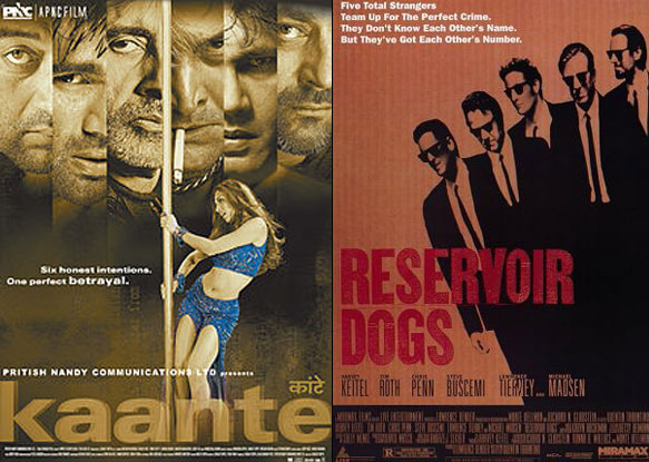 Posters of Kaante and Reservoir Dogs