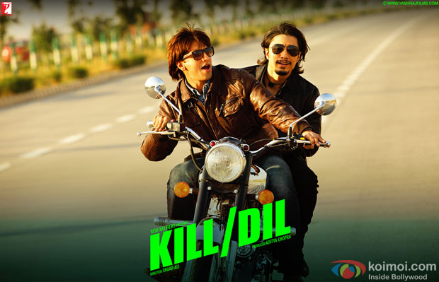 Ranveer Singh and Ali Zafar in a still from movie 'Kill Dil'