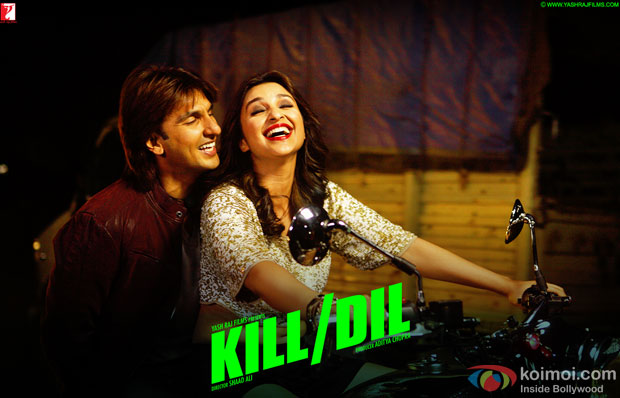 Ranveer Singh and Parineeti Chopra in a still from movie 'Kill Dil'