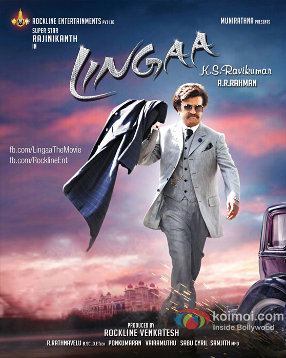 Rajinikanth in a Lingaa Movie Poster
