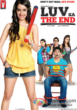 Shraddha Kapoor, Taaha Shah, Shenaz Treasuryvala and Jannat Zubair Rahmani in a 'Luv Ka The End' movie poster