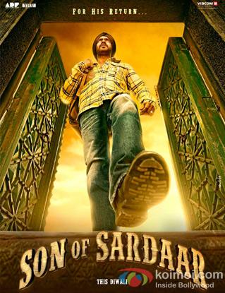 Ajay Devgn in a 'Son Of Sardaar' movie poster