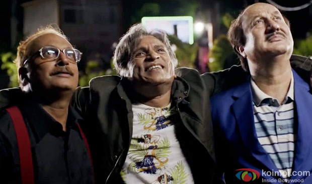 Piyush Mishra, Annu Kapoor and Anupam Kher in a still from movie 'The Shaukeens'