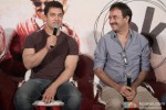 Aamir Khan and Rajkumar Hirani during the press conference of movie 'PK' Pic 1