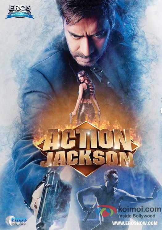 Ajay Devgn and Manasvi Mamgai in a 'Action Jackson' movie poster