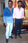 Ajay Devgn and Prabhu Dheva during the Action Jackson Song Launch Pic 1