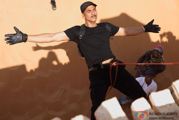 Akshay Kumar Shoots An Action Sequence For BABY In The Abu Dhabi Desert