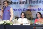 T. Subbarami Reddy, Simi Garewal and Hema Malini during the Announcement of 2nd National Yash Chopra Memorial Award
