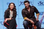 Sonakshi Sinha and Arjun Kapoor during the trailer lainch of movie 'Tevar' Pic 2