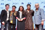 Sanjay Kapoor, Manoj Bajpai, Sonakshi Sinha, Arjun Kapoor and Boney Kapoor during the trailer lainch of movie 'Tevar'
