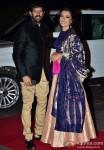 Kabir Khan and Mini Mathur during the Arpita Khan-Ayush Sharma's Wedding Reception In Mumbai