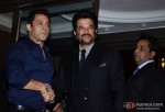 Salman Khan and Anil Kapoor during the Arpita Khan-Ayush Sharma's Wedding Reception In Mumbai