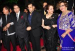 Salim Khan, Dilip Kumar, Salman Khan, Saira Banu and Helen during the Arpita Khan-Ayush Sharma's Wedding Reception In Mumbai