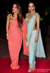 Amrita Arora and Malaika Arora Khan during the Arpita Khan-Ayush Sharma's Wedding Reception In Mumbai