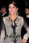 Jacqueline Fernandez during the Arpita Khan-Ayush Sharma's Wedding Reception In Mumbai