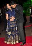 Genelia D'Souza Deshmukh and Riteish Deshmukh during the Arpita Khan-Ayush Sharma's Wedding Reception In Mumbai